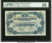 Australia Commonwealth of Australia 50 Pounds ND (1918) Pick 8d R67c PMG About Uncirculated 55. A extremely desirable type, seldom seen in any grade a...