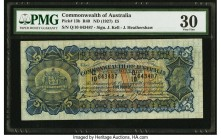 Australia Commonwealth of Australia 5 Pounds ND (1927) Pick 13b R40 PMG Very Fine 30. Colors are excellent on this reduced size 5 pounds note. Kell-He...