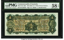 Australia Commonwealth of Australia 1 Pound ND (1927) Pick 16c R26 PMG Choice About Unc 58 EPQ. Bold green inks remain abundantly clear on this early ...