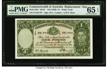 Australia Commonwealth of Australia 1 Pound ND (1949) Pick 26c* R31S Replacement PMG Gem Uncirculated 65 EPQ. Replacement Australian notes are always ...