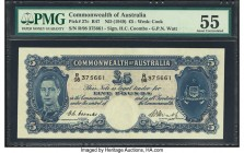 Australia Commonwealth of Australia 5 Pounds ND (1949) Pick 27c R47 PMG About Uncirculated 55. A well preserved 5 pounds from the 1940s issue. Prefix ...