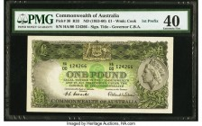 Australia Commonwealth of Australia 1 Pound ND (1953-60) Pick 30 R33 PMG Extremely Fine 40. The first prefix HA00 is seen on this always popular desig...