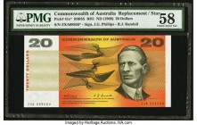Australia Commonwealth of Australia 20 Dollars ND (1968) Pick 41c* R403S Replacement PMG Choice About Unc 58. After decimalization of the Australian P...