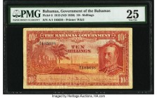 Bahamas Bahamas Government 10 Shillings 1919 (ND 1930) Pick 6 PMG Very Fine 25. Surprisingly, this early A/1 prefix design issued under the Currency A...