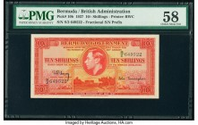 Bermuda Bermuda Government 10 Shillings 12.3.1937 Pick 10b PMG Choice About Unc 58. An amazing portrait of King George VI is well centered on this bri...