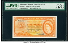 Bermuda Bermuda Government 5 Pounds 1.10.1966 Pick 21d PMG About Uncirculated 53 EPQ. This is the second highest denomination of the last date from th...