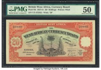 British West Africa West African Currency Board 20 Shillings 31.1.1946 Pick 8b PMG About Uncirculated 50. Scarce in Uncirculated condition due to this...