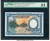 British West Africa West African Currency Board 5 Pounds = 100 Shillings 26.4.1954 Pick 11b PMG Choice Uncirculated 64 EPQ. A beautiful grand sized no...