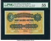 East Africa East African Currency Board 20 Shillings = 1 Pound 1.8.1951 Pick 30b PMG About Uncirculated 55. Seldom seen in this elite grade, this high...