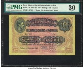 East Africa East African Currency Board 100 Shillings = 5 Pounds 1.9.1943 Pick 31b PMG Very Fine 30. An elusive note from the 1938 to 1952 King George...