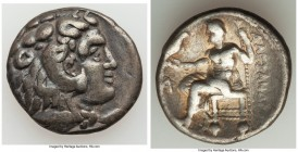 MACEDONIAN KINGDOM. Alexander III the Great (336-323 BC). AR tetradrachm (27mm, 16.63 gm, 12h). VF. Late lifetime-early posthumous issue of Aradus, ca...