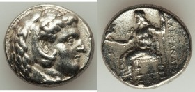 MACEDONIAN KINGDOM. Alexander III the Great (336-323 BC). AR tetradrachm (25mm, 16.93 gm, 5h). About XF, brushed. Late lifetime-early posthumous issue...