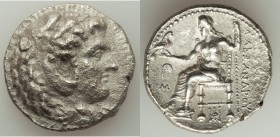 MACEDONIAN KINGDOM. Alexander III the Great (336-323 BC). AR tetradrachm (29mm, 16.60 gm, 10h). Choice XF, porosity. Late lifetime-early posthumous is...