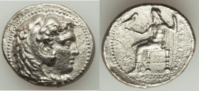MACEDONIAN KINGDOM. Alexander III the Great (336-323 BC). AR tetradrachm (28mm, 16.23 gm, 12h). Choice XF, porosity, brushed. Early posthumous issue o...