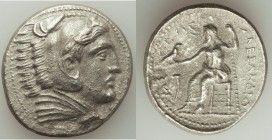 MACEDONIAN KINGDOM. Alexander III the Great (336-323 BC). AR tetradrachm (28mm, 16.27 gm, 11h). XF, porosity. Posthumous issue of Amphipolis, by Phili...