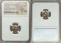 MACEDONIAN KINGDOM. Alexander III the Great (336-323 BC). AR drachm (16mm, 7h). NGC Choice VF. Late lifetime-early posthumous issue of Sardes, ca. 323...