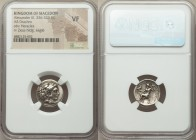 MACEDONIAN KINGDOM. Alexander III the Great (336-323 BC). AR drachm (17mm, 1h). NGC VF. Posthumous issue of Pamphylia, Side, ca. 323-317 BC. Head of H...