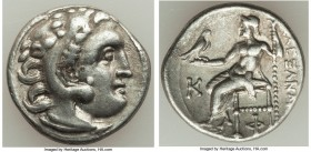 MACEDONIAN KINGDOM. Alexander III the Great (336-323 BC). AR drachm (18mm, 4.20 gm, 12h). VF. Posthumous issue of 'Colophon', 310-301 BC. Head of Hera...