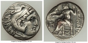 MACEDONIAN KINGDOM. Alexander III the Great (336-323 BC). AR drachm (16mm, 4.11 gm, 6h). Choice VF, porosity. Posthumous issue of Lampsacus, ca. 310-3...