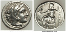 MACEDONIAN KINGDOM. Alexander III the Great (336-323 BC). AR drachm (17mm, 4.21 gm, 12h). About VF. Early posthumous issue of Miletus, ca. 323-319 BC....