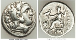 MACEDONIAN KINGDOM. Alexander III the Great (336-323 BC). AR drachm (17mm, 4.19 gm, 12h). VF. Posthumous issue of 'Colophon', ca. 310-301 BC. Head of ...