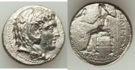 MACEDONIAN KINGDOM. Philip III Arrhidaeus (323-317 BC). AR tetradrachm (27mm, 16.65 gm, 9h). Choice XF, porosity. Babylon. Head of Heracles right, wea...