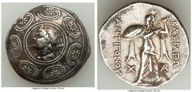 MACEDONIAN KINGDOM. Antigonus II Gonatas (277/6-239 BC). AR tetradrachm (30mm, 17.04 gm, 10h). VF. Horned head of Pan left, lagobolon behind, in tondo...