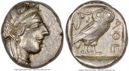 ATTICA. Athens. Ca. 440-404 BC. AR tetradrachm (24mm, 17.17 gm, 1h). NGC XF 5/5 - 4/5. Mid-mass coinage issue. Head of Athena right, wearing crested A...