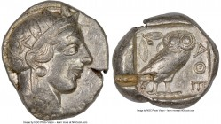 ATTICA. Athens. Ca. 440-404 BC. AR tetradrachm (26mm, 17.15 gm, 10h). NGC Choice VF 4/5 - 2/5, test cut. Mid-mass coinage issue. Head of Athena right,...