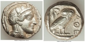 ATTICA. Athens. Ca. 440-404 BC. AR tetradrachm (24mm, 17.16 gm, 3h). Choice XF, Full Crest. Mid-mass coinage issue. Head of Athena right, wearing cres...