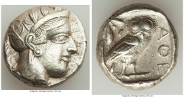 ATTICA. Athens. Ca. 440-404 BC. AR tetradrachm (23mm, 17.18 gm, 11h). XF. Mid-mass coinage issue. Head of Athena right, wearing crested Attic helmet o...