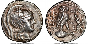 ATTICA. Athens. Ca. 2nd-1st centuries BC. AR tetradrachm (30mm, 1h). NGC Choice VF, light scratches. New Style coinage, ca. 113/12 BC, 2nd month. Euma...