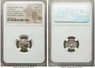 LYCIAN LEAGUE. Masicytes. Ca. 48-20 BC. AR hemidrachm (15mm, 1.79 gm, 12h). NGC MS 5/5 - 4/5. Series 1. Laureate head of Apollo right; Λ-Y below / M-A...
