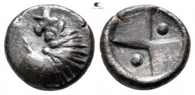 Eastern Europe. Imitating Chersonesos mint issue 200-100 BC. Hemidrachm AR