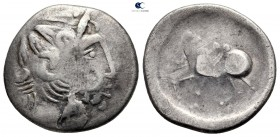 Eastern Europe. Imitation of Philip II of Macedon 200-100 BC. Tetradrachm AR