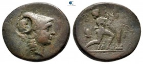 Kings of Macedon. Uncertain mint in Macedon. Antigonos II Gonatas 277-239 BC. c/m: head of pan. Bronze Æ
