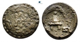 Kings of Macedon. Uncertain mint. Demetrios I Poliorketes 306-283 BC. 1/4 Unit AE