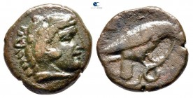 Kings of Macedon. Uncertain mint in Macedon. Amyntas III 393-369 BC. Bronze Æ