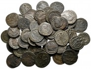 Lot of ca. 50 roman bronze coins / SOLD AS SEEN, NO RETURN!very fine