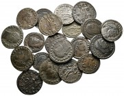 Lot of ca. 20 roman bronze coins / SOLD AS SEEN, NO RETURN!very fine