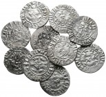 Lot of ca. 10 medieval silver coins / SOLD AS SEEN, NO RETURN!