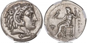 MACEDONIAN KINGDOM. Alexander III the Great (336-323 BC). AR tetradrachm (26mm, 17.08 gm, 11h). NGC Choice AU 5/5 - 3/5, Fine Style, scratches. Early ...