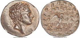 MACEDONIAN KINGDOM. Perseus (179-168 BC). AR tetradrachm (32mm, 16.78 gm, 11h). NGC AU S 5/5 - 4/5, Fine Style. Attic-weight issue, Pella or Amphipoli...