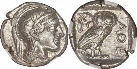 ATTICA. Athens. Ca. 440-404 BC. AR tetradrachm (26mm, 17.18 gm, 10h). NGC MS S 5/5 - 5/5, Full Crest. Mid-mass coinage issue. Head of Athena right, we...