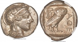 ATTICA. Athens. Ca. 440-404 BC. AR tetradrachm (25mm, 17.19 gm, 10h). NGC Choice AU S 5/5 - 5/5. Mid-mass coinage issue. Head of Athena right, wearing...