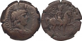 EGYPT. Alexandria. Antinoüs. (died AD 130). AE drachm (34mm, 23.29 gm, 12h). NGC VF 4/5 - 4/5. Dated Regnal Year 19 of Hadrian (AD 134/135). ANTINOOY-...