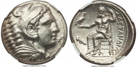 MACEDONIAN KINGDOM. Alexander III the Great (336-323 BC). AR tetradrachm (25mm, 17.22 gm, 11h). NGC MS 5/5 - 4/5. Lifetime issue of 'Amphipolis', ca. ...