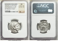 MACEDONIAN KINGDOM. Alexander III the Great (336-323 BC). AR tetradrachm (25mm, 17.19 gm, 1h). NGC MS 4/5 - 4/5. Posthumous issue of Amphipolis, by Ph...