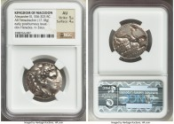 MACEDONIAN KINGDOM. Alexander III the Great (336-323 BC). AR tetradrachm (26mm, 17.18 gm, 8h). NGC AU 5/5 - 4/5. Posthumous issue of Babylon, ca. 317-...