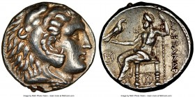 MACEDONIAN KINGDOM. Alexander III the Great (336-323 BC). AR tetradrachm (24mm, 17.15 gm, 6h). NGC Choice XF 5/5 - 5/5, Fine Style. Posthumous issue o...